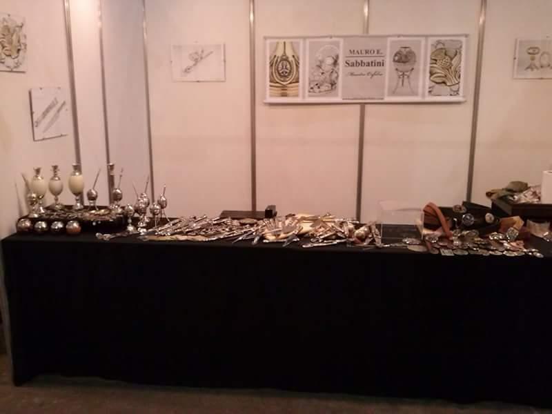 El stand de Mauro Sabbatini en la Feria de Artesanías 2014