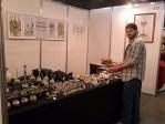 Mauro Sabbatini en su stand de la Feria de Artesanías 2014