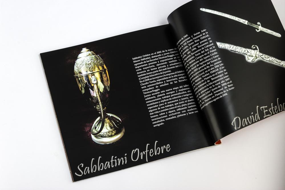 Curriculum de Mauro Sabbatini en el catálogo del 4to encuentro nacional de plateros
